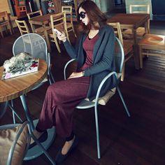 2013秋新款毛织衫女中长款厚披肩外套长袖通勤衫韩版长袖毛衣开衫-淘宝网
