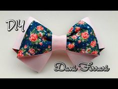 Laço camadinhas invertidas - Tutorial passo a passo - DIY - Ribbon bow hair - Dani Ferrari - YouTube