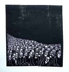 Karl Volker, woodcut