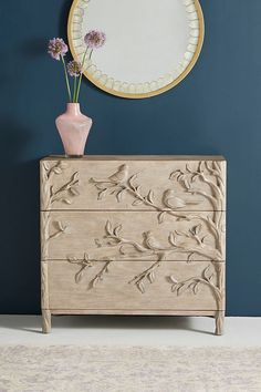 Cheap Home Decor Handcarved Ornithology Three-Drawer Dresser.Cheap Home Decor Handcarved Ornithology Three-Drawer Dresser Hanging Furniture, Plywood Furniture, Unique Furniture, Shabby Chic Furniture, Rustic Furniture, Painted Furniture, Living Room Furniture, Home Furniture, Furniture Design