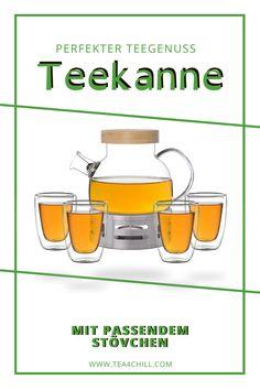 """Hochwertige Teekannen aus Glas für den ultimativen Teegenuss. Wer gerne guten Tee trinkt und die damit verbundenen einzigartigen """"Wohlfühlmomente"""" zu schätzen weiß, der legt zumeist auch großen Wert darauf, dass dieser ansprechend präsentiert und in schönem Geschirr serviert wird. #teeliebhaber #teezeit Tee Set, Gourmet, How To Make Tea, Tea Pots, Cuppa Tea, Cold Drinks, Teacup"""