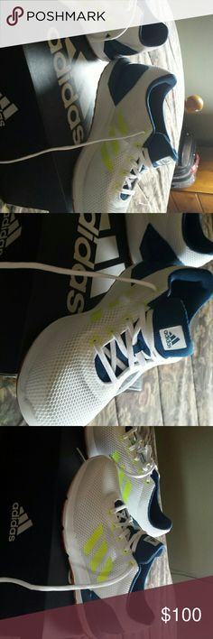 Mens running shoe brand new nwt Brand new in box mens size 8 women size 9 I wear a 9 they fit great deal addidas. Authentic. ... addidas Shoes Athletic Shoes