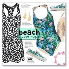 """Beach Cover-Up & Tropical Patterns with Yoins 2//14"" by kellylynne68 ❤ liked on Polyvore featuring Agent Provocateur, Converse and We Are Handsome"