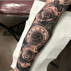 John tattoo old school tattoo arm tattoo tattoo tattoos tattoo antebrazo arm sleeve tattoo Clock Tattoo Sleeve, Cool Half Sleeve Tattoos, Cool Arm Tattoos, Badass Tattoos, Sleeve Tattoos For Women, Tattoo Sleeve Designs, Arm Tattoos For Guys, Trendy Tattoos, Leg Tattoos