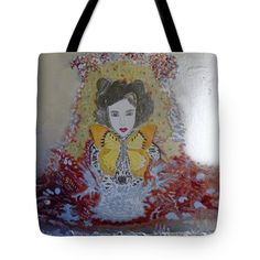 "Butterfly dreams  Tote Bag 18"" x 18"" by Nicole Burrell"