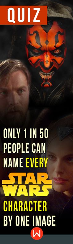 Are you one with the force? Star Wars trivia test. You can't call yourself a Star Wars fan if you don't know at least 60% of these characters. Do you? Test yourself! Star Wars Trivia questions every fan should know. Star Wars quiz.