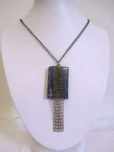 Unavailable. Contact me for a custom order! Lapis Lazuli Necklace with Brass Chain by DeadPoetAccessories