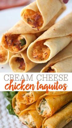 Cream Cheese & Chicken Taquitos