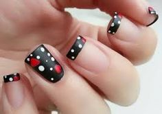 100 Purity Polka Dot Nail Designs For Trendy Girls Fancy Nails, Trendy Nails, Hot Nails, Hair And Nails, Hot Nail Designs, Polka Dot Nails, Polka Dots, Fabulous Nails, Simple Nails