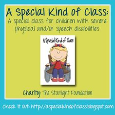 A special blog for a special class! A Special Kind of Class has amazing ideas, resources, and pictures for special needs teachers. It's one of our Top Education Blogs! Be sure to vote for your favorite and help them win 200 dollars for charity!
