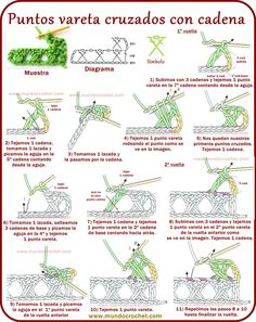 Crossed rod points with chain Crochet Diagram, Crochet Chart, Filet Crochet, Crochet Motif, Crochet Lace, Crochet Patterns, Crochet Stitches For Beginners, Crochet Videos, Crochet Basics