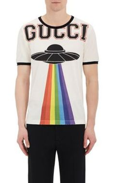 7944a431b8f25 Gucci Embellished Cotton Logo T-Shirt - Tops - 505139179