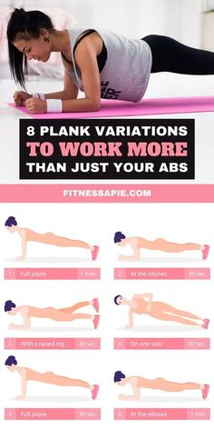 Plank is among the most efficient exercises you can do, as they can be done in a short amount of time, while still offering you the opportunity to achieve noticeable results. You may not know that there are many plank exercise variations that can work more than just your abs. In this article, we will look at 8 plank variations that will help strengthen your core, improve your balance, and help improve your overall wellbeing. #exercises #planking #workout #plankvariations
