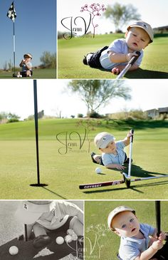 baby photography start him early! Golf Pictures, Newborn Pictures, Baby Pictures, Newborn Pics, Newborn Care, Family Pictures, Children Photography, Newborn Photography, Lifestyle Photography