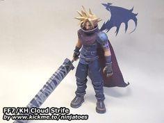 Kingdom Hearts / Final Fantasy VII Cloud Strife papercraft