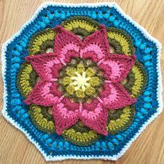 Crochet lotus moon tile