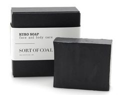 Compressed charcoal soap