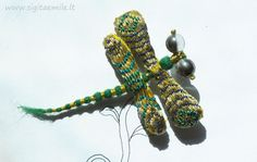 dragonflies and feathers by Beth on Etsy