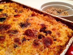 Pečena prosena kaša s suhim sadjem (brez glutena) / Baked millet porridge with dried fruit ( gluten-free )