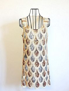 Deco Great Gatsby 1920s Style Vintage Look Flapper Scallop Charleston Dress on Etsy, $49.99