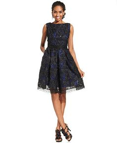Isaac Mizrahi Dress, Sleeveless Sequined A-Line - Dresses - Women - Macy's