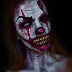 10 Scary Pennywise Clown Halloween Makeup Tutorials - It Movie Halloween Makeup Ideas