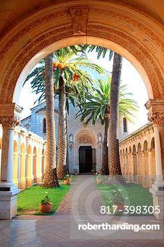 The monastery of the Saint Honorat island near Cannes, Alpes-Maritimes, French riviera, Provence-Alpes-Ca´te da´Azur, France