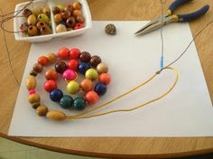 A snail, made from beads and wire - from Our Kindergarten Journey Science Inquiry, Inquiry Based Learning, Project Based Learning, Gross Motor Activities, Gross Motor Skills, Art For Kids, Crafts For Kids, Kindergarten Science, Preschool