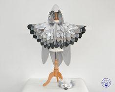 Schneeeulen-Kleid Kostüm Kleid Tier Damen Eule Schneeule Verkleidung Kunstfell