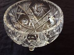 Jahrgang Footed Crystal Bowl wurde nun zum von TheLAMBshopee