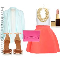 """""""Spring Colorblocking."""" by adoremycurves on Polyvore"""