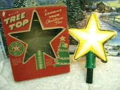 Vintage MILLER CHRISTMAS TREE TOP STAR ORIG BOX (829)