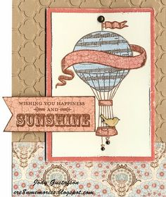 card by Jodi Gustafson using CTMH Balloon Ride paper