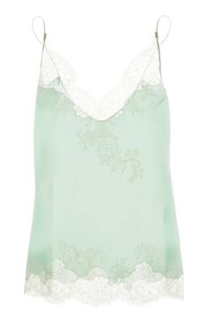 Carine Gilson Silk-Satin Lace Camisole, $830, available at Net-A-Porter. via @Refinery29
