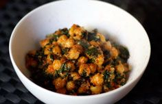 One of my favorites. Really tasty, really easy, really nourishing. (Moroccan Spinach and Chickpeas)