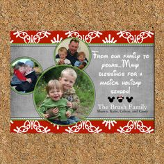 Christmas Cards - Disney Photo Collage - 9 photos on Etsy, $18.00 ...