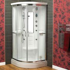 Lisna Waters Florenta Quadrant Steam Shower Enclosure Cabin x The Florenta Quadrant Steam Shower Cabin includes 6 body massage jets to provide an amazing massage Steam Shower Cabin, Steam Shower Enclosure, Steam Shower Units, Modern Bathroom, Small Bathroom, Dream Bathrooms, Master Bathroom, Diy Design, Design Ideas