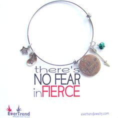 Be Fierce Boxed Expandable Bangle Bracelet by ExpressioneryPendant