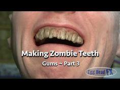 How to Make Custom Zombie Teeth ~ Part 3 - YouTube