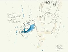 blue fish / in white water / white soul / in blue world My Drawings, Colours, Watercolor, Fish, World, Blue, Art, The World, Watercolor Painting