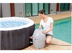Indoor whirlpool aufblasbar  InstaSpa Inflatable Portable Whirlpool Hot Tub Spa with Cover ...