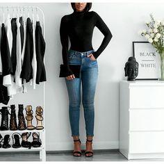 Top @ginatricot I'm wearing the Groupie False Jeans from @bikbok  Heels @linzishoes  #... | Use Instagram online! Websta is the Best Instagram Web Viewer!