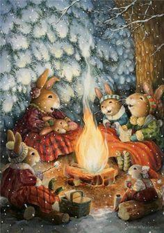 So cute~bunnies camping~<3