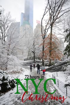 New York City at Christmas time is the most magical Christmas experience ever. Here are unique ideas of things to see and do in New York, where to stay in New York at Christmas, places to eat in NYC, shop and experience the magic. Taking kids to NYC at C Shopping In New York, New York Vacation, New York City Travel, Vacation Places, New York City Christmas, Christmas Travel, Holiday Travel, Magical Christmas, Christmas Things