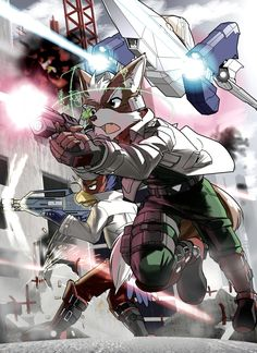 Old school Starfox and Falco!! One of the few non-RTS games I adored as a kid.