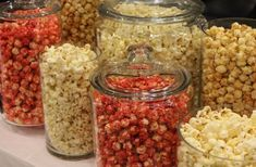 Flavored Popcorn available in 15 delicious flavors and sold in Bulk for large parties and popcorn at weddings Wedding Snack Bar, Wedding Popcorn Bar, Flavored Popcorn, Popcorn Recipes, Healthy Afternoon Snacks, Healthy Snacks, Popcorn Station, Party Snacks, Dessert Table