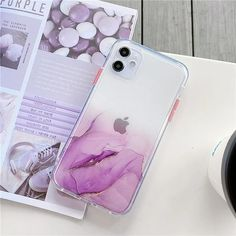 Cute Gradient Marble Cute Phone Case For iPhone 11 Pro Max SE 2020 X XR XS Max 7 8 Plus Clear Shiny Glitter Shockproof Coque | Touchy Style Iphone 8 Plus, Iphone 7, Apple Iphone, Best Iphone, Iphone Phone Cases, Wildflower Phone Cases, All Iphones, Marble Case, Plus 8