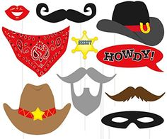 Photo Booth COWBOY Prop's