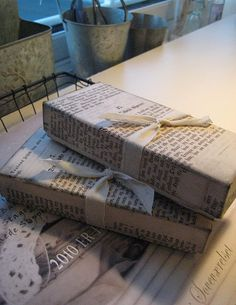 vintage paper covered boxes for adding height to table display