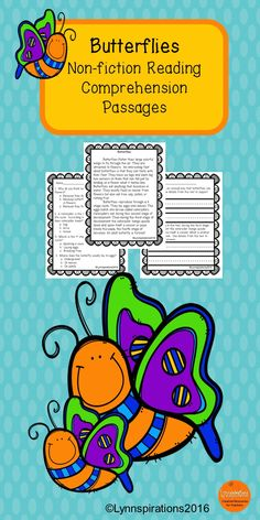 This  activity is great for teaching reading comprehension skills as well as the science of  Butterflies for grades 1-3. It can be used in your class to help your students with reading comprehension skills as well as with test taking skills. It is part of the Insects Bundle below. Please take a preview peek! Included: An engaging passage with 4 multiple choice questions and 2 written responses.